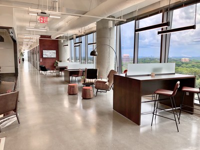 The Carmel Serendipity Lab will meet the same premium design standards as this Lab in Buckhead Atlanta. At Serendipity Labs, members can use every lab in the network. The company uses only low volatile organic compound (VOC) paint and nontoxic materials. All carpet is 100% recyclable.