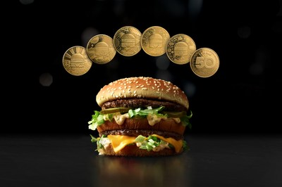 McDonald's Canada celebrates 50 golden years of the Big Mac® with the launch of the MacCoin. (CNW Group/McDonald's Restaurants of Canada Ltd.)
