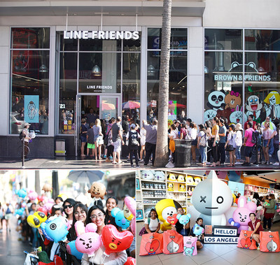 LINE FRIENDS opened its 'Hollywood Pop-up Store' on July 27 (U.S. local time) in Los Angeles, California, U.S.A