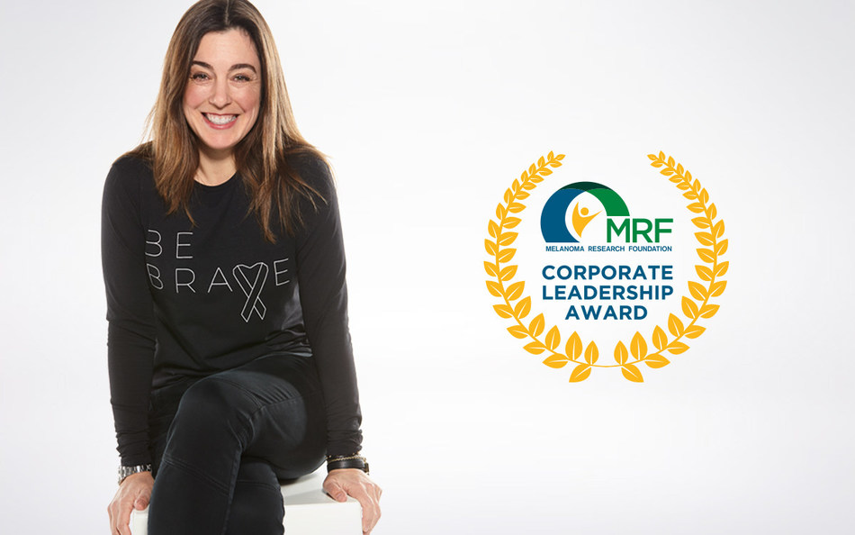 Coolibar, the industry leader in sun protective apparel and accessories, has been honored by the Melanoma Research Foundation (MRF) as the recipient of the 2018 Corporate Leadership Award. Photo: Kendra Reichenau, CEO Coolibar (PRNewsfoto/Coolibar, Inc.)