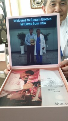 "Hawn presented professor Hwang a pictorial history book ""Like Father Like Son"" of Booster's and the clone's accomplishments. The kindly professor gifted Hawn a huge assortment of cosmetic products in part made from the patented substance he uses to stimulate cell growth."