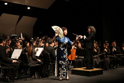 The Suzhou Chinese Orchestra played at the Lincoln Performance Hall of Portland State University.