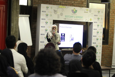 Blossom's Demo Day - COO of Maison Glamour pitching to investors