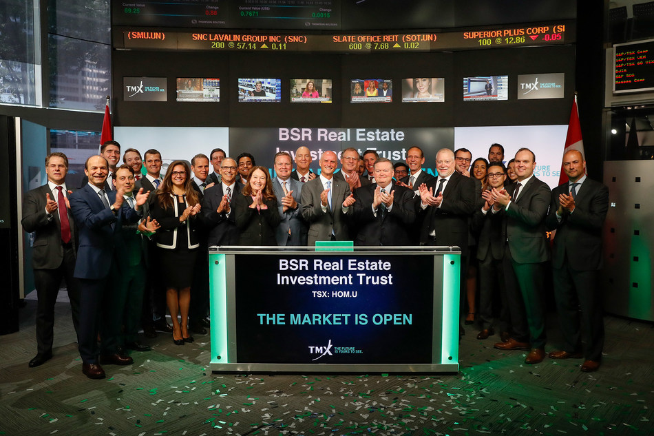 BSR Real Estate Investment Trust Opens the Market (CNW Group/TMX Group Limited)