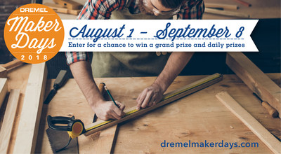 From Aug. 1 until Sept. 8, users can go online to DremelMakerDays.com to get exclusive deals on their favorite Dremel products through their local home improvement store and enter to win daily prizes.
