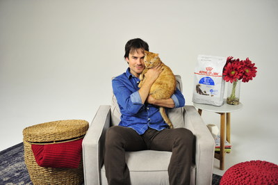 Actor and activist Ian Somerhalder and his cat, Moke, partnered with Royal Canin to raise awareness for its Take Your Cat To the Vet Day campaign to promote the importance of preventive veterinary care for cats. Photo credited to Michael Simon