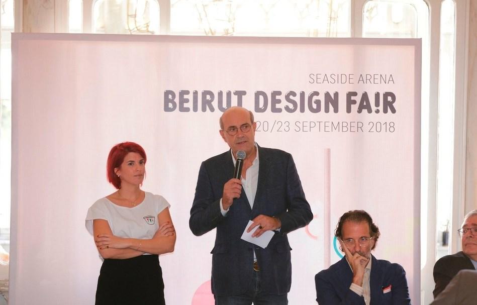 Hala Mubarak - Guillaume Taslé d'Héliand - Galal Mahmoud - Fady Gemayel (PRNewsfoto/Beirut Design Fair)