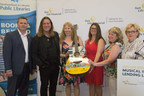 Alan Doyle joins Sun Life Financial at the official launch of the Sun Life Financial Musical Instrument Lending Library program at AC Hunter Public Library in St. John's, Newfoundland (CNW Group/Sun Life Financial Canada)