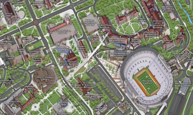 University of Tennessee, Knoxville's New 3D Interactive Campus Map - Powered by Concept3D
