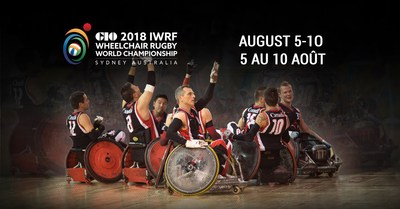 Taking place August 5-10 in Sydney, Australia, Canada will be among 12 nations competing for the wheelchair rugby world title. (CNW Group/Canadian Paralympic Committee (Sponsorships))