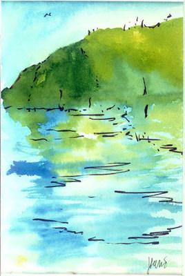 Ripple Watercolor Artist: Jerry Garcia