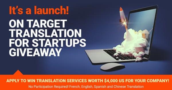 On Target Translation Services Giveaway for Startups