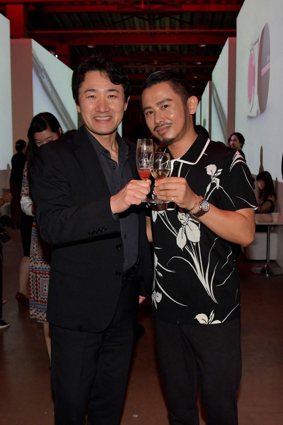 Yoshiaki Okabe, Hiro Odagiri (PRNewsfoto/SHISEIDO)