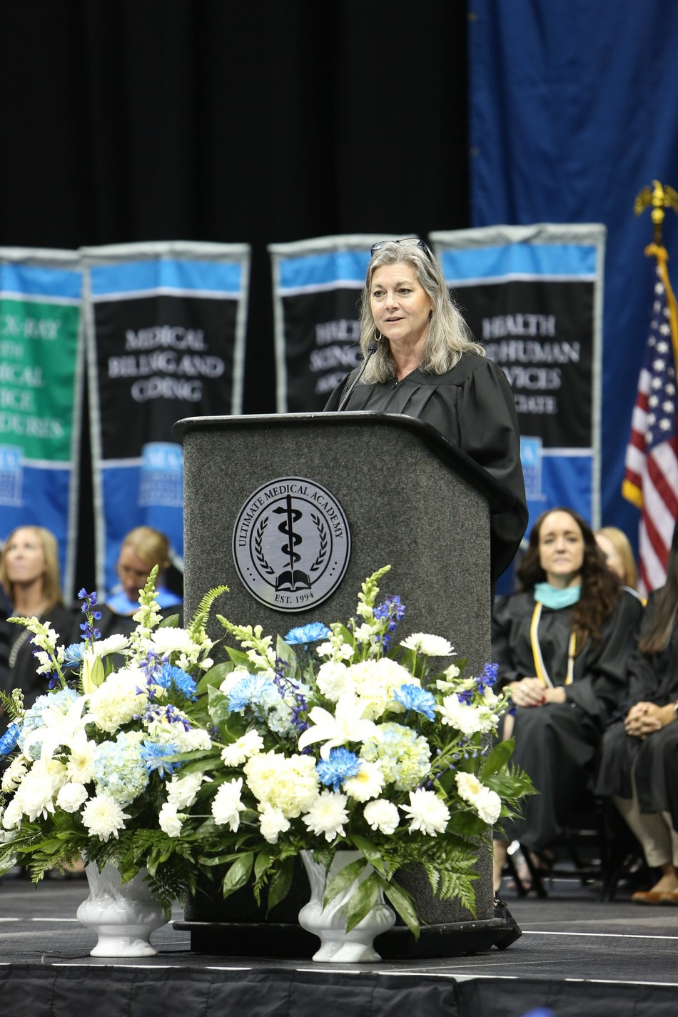 Education, women, and family advocate, former Massachusetts Governor Jane Swift, will deliver the commencement address at Ultimate Medical Academy's Fall Commencement (#UMAgrad) to almost 3,700 graduates on Saturday, September 22, 2018. (PRNewsfoto/Ultimate Medical Academy)