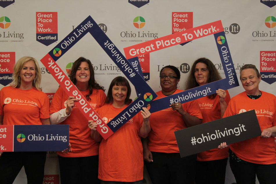 Ohio Living teammates celebrate being Great Place to Work - Certified.