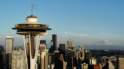 The Space Needle's profile with downtown Seattle. Courtesy of Chad Copeland.