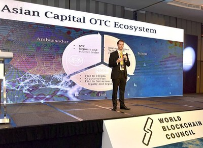 CEO of Asian Capital Limited sharing his speech at the World Blockchain Conference 2018 (Singapore)