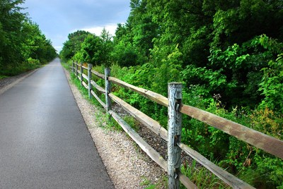 Indiana's Cardinal Greenway, running nearly 62 miles through small towns, suburbs and rural landscapes, is Rails-to-Trails Conservancy's 2018 inductee into the Rail-Trail Hall of Fame. The trail was selected by popular vote and is recognized for outstanding scenic value, use, amenities, historical significance and community value. Photo courtesy Cardinal Greenways Inc.