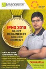International Physics Olympiad (IPhO) 2018: Resonite Pawan Goyal Bagged Gold medal (PRNewsfoto/Resonance Eduventures Limted)