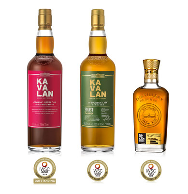 """Kavalan awarded """"Gold Outstanding"""" and """"Gold"""
