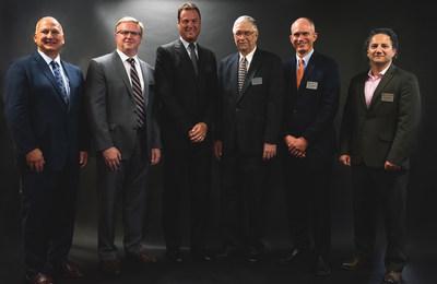 Left to right: Jeffery W. Feldt, Jon E. Jipping, Michael A. Pulick Jr., Dennis Wiitanen, Paul W. Juodawlkis, Arjang Roshan-Rouz