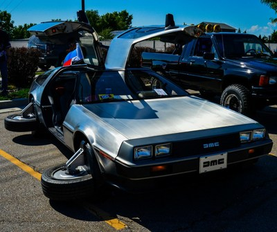 Meticulously-restored DeLorean to be movie accurate from Back to the Future.