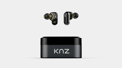 KNZ SoundFlux Dual-Driver Truly Wireless Headphones (Space Gray)