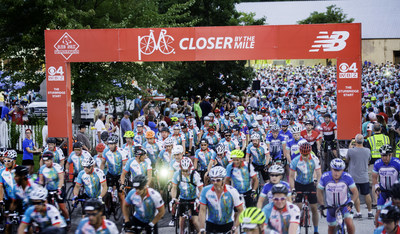 A record 6,300 cyclists from 43 states and 10 countries are pedaling for a cure in the 39th Pan-Mass Challenge this weekend with the goal of raising $52 million for cancer treatment and research at Dana-Farber Cancer Institute. / Credit: John Deputy