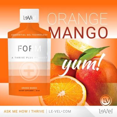 Le-Vel launches FORM Orange Mango Sequential Gel Technology
