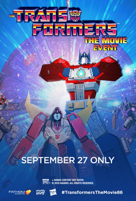 Transformers: The Movie comes to theaters September 27