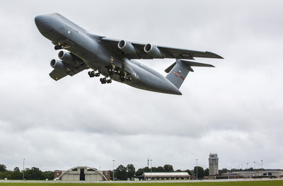 Lockheed Martin (NYSE: LMT) Aeronautics Company delivered the 52nd and final C-5M Super Galaxy strategic transport modernized under the U.S. Air Force's Reliability Enhancement and Re-engining Program (RERP) on Aug. 2, 2018 at the company's Marietta, Georgia, facility. The RERP upgrade will extend the service life of the C-5 fleet out until the 2040s. Lockheed Martin photograph by Andrew Mcmurtrie.