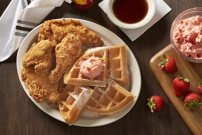 Metro Diner's Fried Chicken and Waffle