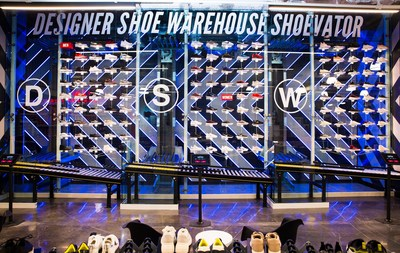 Check out DSW Designer Shoe Warehouse's proprietary Shoevator TM in its brand new location in Las Vegas