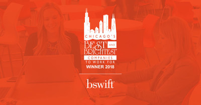 bswift Receives Chicago's Best and Brightest Companies to Work For® Distinction for a Fourth Year
