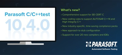 Learn how to deliver C and C++ software that's robust, predictable, and secure with Parasoft C/C++test.