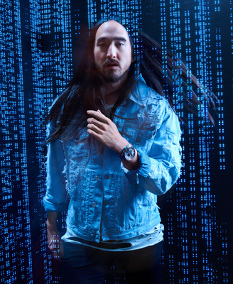 EDM DJ Steve Aoki teams up with Diesel for the launch of the brand's first transparency watch collection, available now.