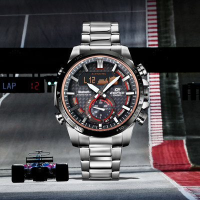 Casio's New EDIFICE ECB800DB-1A Timepiece Boasts Motorsports-Inspired Design and Robust Feature-Set