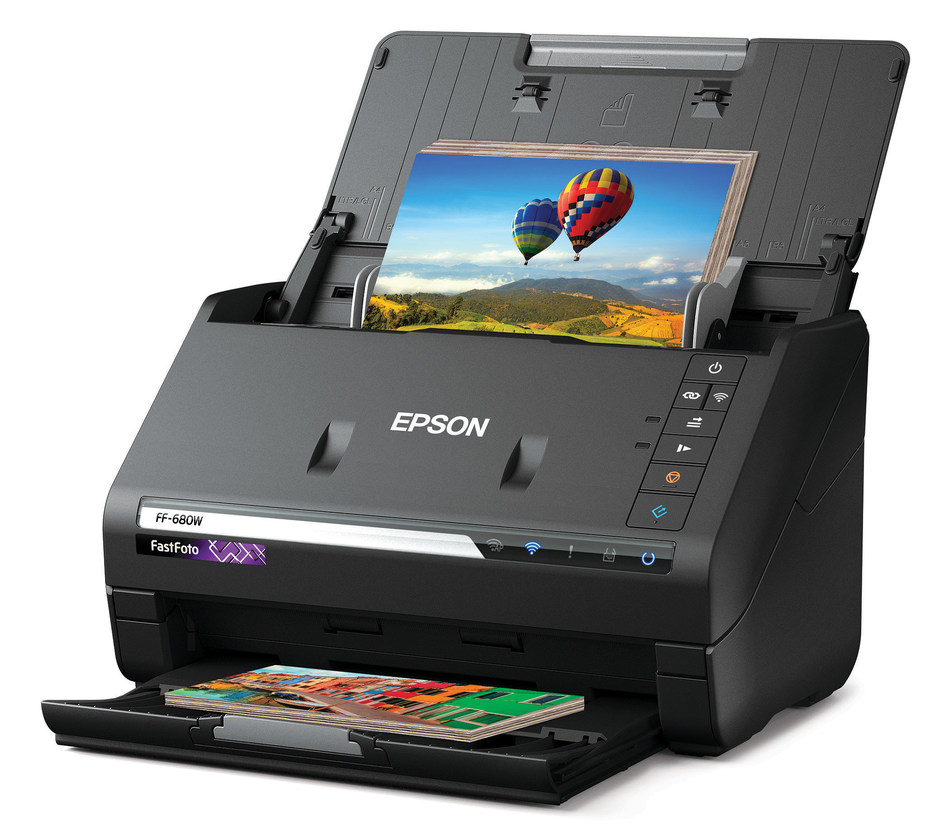 New Epson FastFoto FF-680W Wireless High-Speed Photo and Document Scanning System preserves priceless memories.