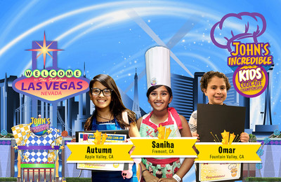John's Incredible Pizza Company Kids Cook-Off Championship Semi-finalists competing in Thursday, August 16 Las Vegas Championship Finals: Omar of Fountain Valley, Autumn from Apple Valley and Saniha of Fremont, Calif.