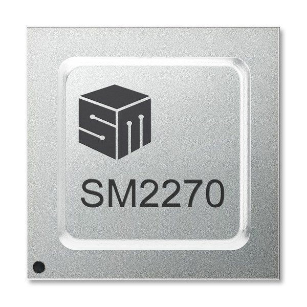 SM2270 SSD controller is designed with standard NVMe and Open Channel capabilities for enterprise and data center storage