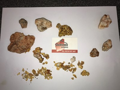 Figure 2: Images of Recent Gold Specimens Recovered from Yandicoogina (CNW Group/Pacton Gold Inc.)