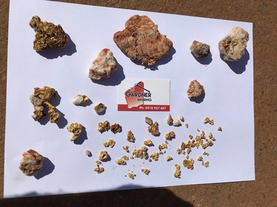 Figure 3: Images of Recent Gold Specimens Recovered from Yandicoogina (CNW Group/Pacton Gold Inc.)