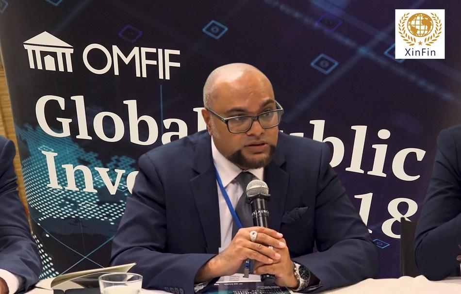 Joseph Appalsamy at the TradeFinex IAC Sandbox Launch (PRNewsfoto/XinFin FinTech Pte. Ltd)