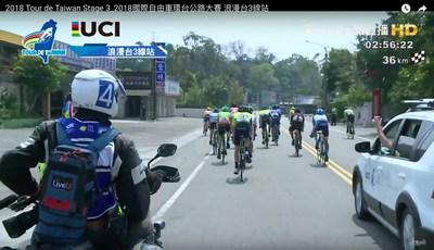 LiveU's LU600 HEVC unit in use at the Tour de Taiwan cycling tournament