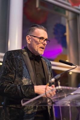 Hugh Boyle, TracyLocke CEO, accepting the 2018 Change Agency Award