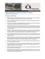 Paramount Resources Ltd. Reports Second Quarter 2018 Results (CNW Group/Paramount Resources Ltd.)