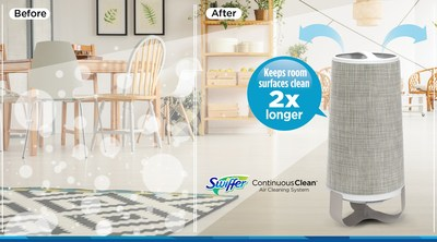 Swiffer™ Continuous Clean™ keeps room surfaces clean 2x longer, giving you more time to do the things you love