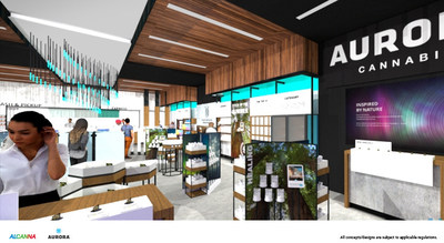 Aurora Cannabis and Alcanna Enter into Exclusive License Agreement for Alcanna Operated, Aurora-branded Retail Stores (CNW Group/Aurora Cannabis Inc.)