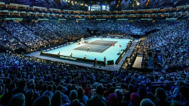 THE SPECTACULAR SEASON-ENDING NITTO ATP FINALS HAVE BEEN HELD AT THE O2 IN LONDON SINCE 2009