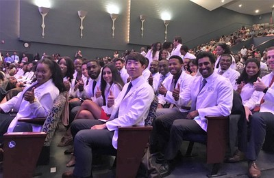 Howard University College of Medicine hosts a White Coat Ceremony to welcome new students.